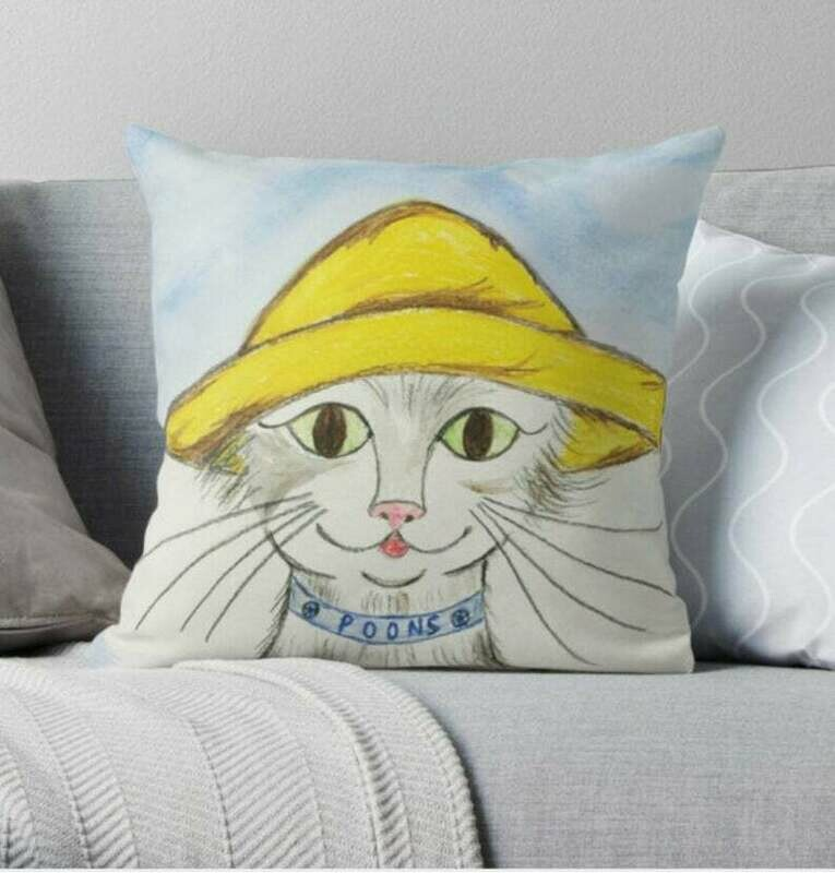 Oliver Poons Children's Book Character Pillow - 16 x 16 Throw Pillow - Reading Pillow - Playroom Decor