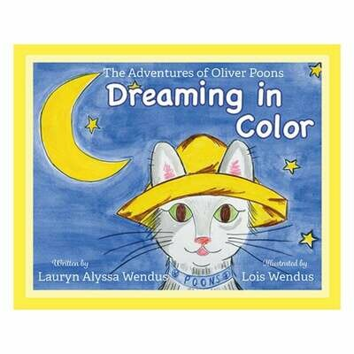 Oliver Poons Dreaming in Color - Whimsical - Personalized Gift - Children's Book - Baby Book - Cat Book - Bedtime Story