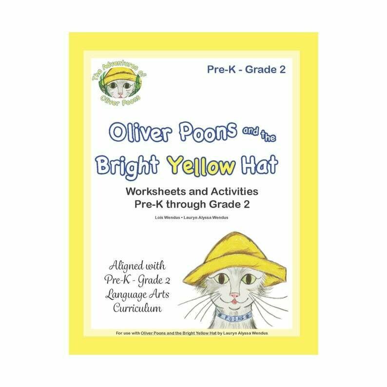 Oliver Poons Educational Workbook by Lois Wendus - Preschool - Kindergarten - First Grade - Second Grade - Teacher Gift - Homeschool