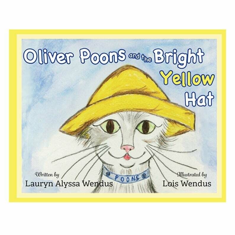 Oliver Poons and the Bright Yellow Hat - Personalized Baby Book - Personalized Children's Book - Cat Book - Bedtime Story Book - Children's Books - Baby Books