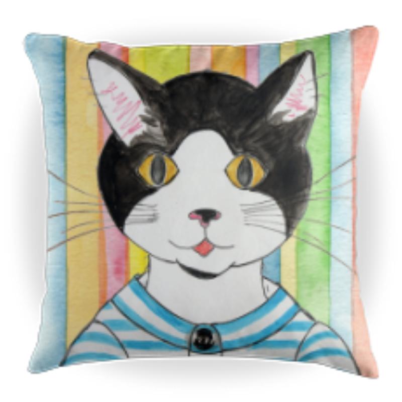 Porg the Cat - Kids Throw Pillow - 16 x 16 Children's Decorative Pillows - Kids Pillows