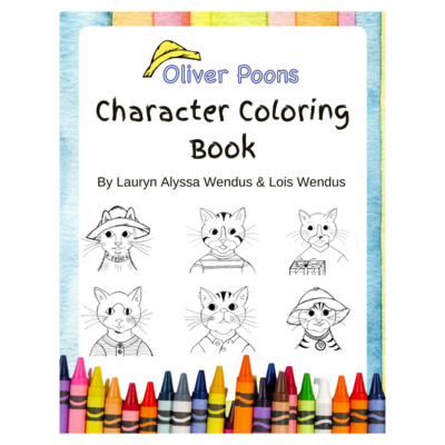 Oliver Poons Character Coloring Book Digital Download
