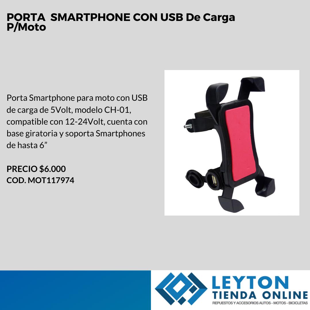 PORTA SMARTPHONE CON USB DE CARGA