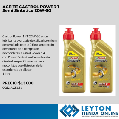 ACEITE CASTROL POWER 1