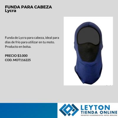FUNDA IMPERMEABLE DE CABEZA