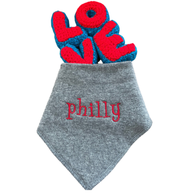 phillybaby bib & handmade rattle set