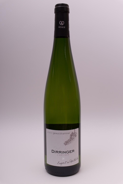 Vin blanc demi-sec d'Alsace - Gewurztraminer 2018 : L'esprit de Mathilde