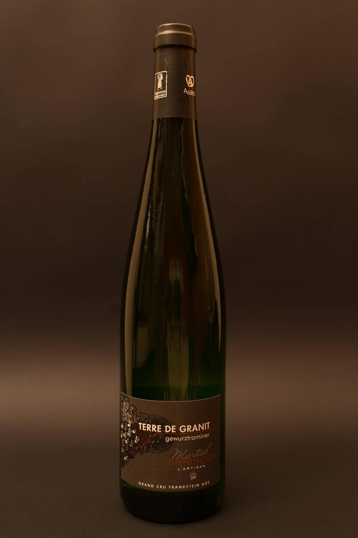 Gewurztraminer  Grand Cru Frankstein Terre de Granit 2016 vin blanc d'Alsace demi-sec fruité