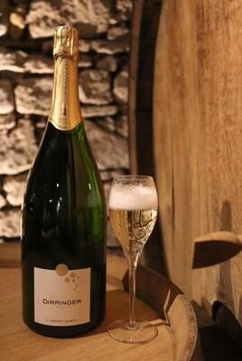 Magnum de Crémant d'Alsace Blanc Millésimé 2015, vin effervescent d'exception vendu en coffret (1,5L)