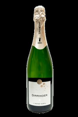 Crémant d'Alsace brut, cépage Pinot blanc - vin effervescent L'Instant Subtil