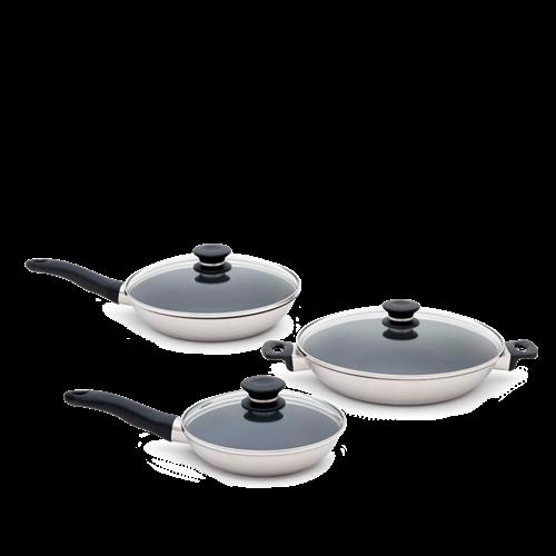 iCOOK Non-Stick Pan Set With Lids (6 Piece)