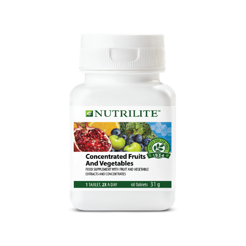 NUTRILITE; Concentrated Fruits and Vegetables - 60 tablets