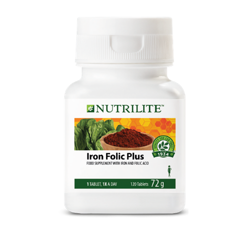 NUTRILITE™ Iron Folic Plus - 120 tablets