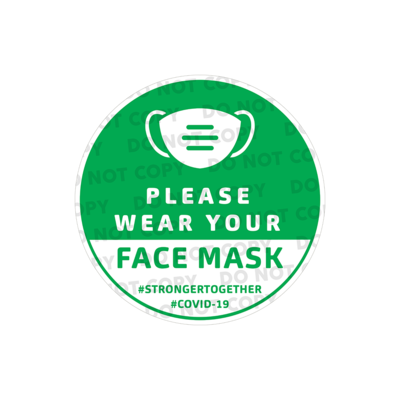 SD Wear Your Mask Stickers 300mm (Pack of 10)