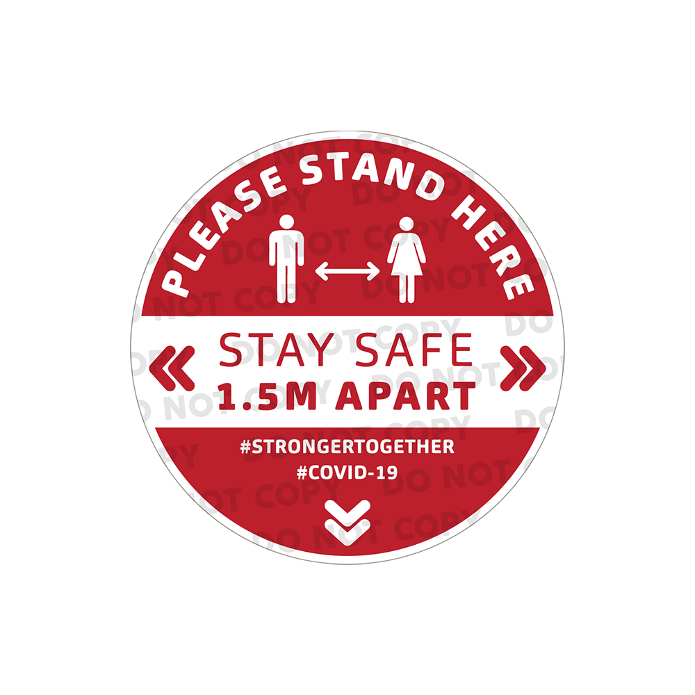 SD Stand Here Stickers 300mm (Pack of 10)