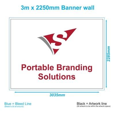 3m x 2.25m Banner