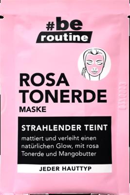 قناع الطين الوردي الروتيني