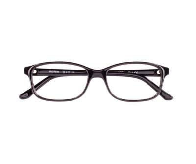 Okulary Andrew Black 0010 oprawka oraz najwyższej jakości soczewki STANDARD PLUS