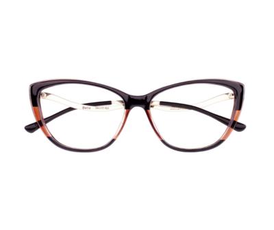 Okulary Bella Brown&Black 0831 oprawka oraz najwyższej jakości soczewki STANDARD PLUS