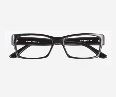 Okulary Borys Black 0010 oprawka oraz najwyższej jakości soczewki STANDARD PLUS