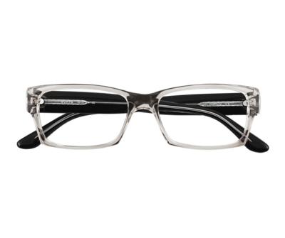 Okulary Borys Transparent Black 1010 oprawka oraz najwyższej jakości soczewki STANDARD PLUS