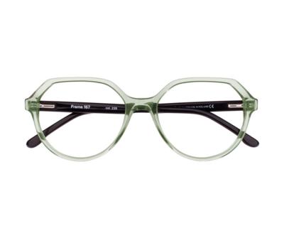 Okulary Frame Transparent Green 167 235 oprawka oraz najwyższej jakości soczewki STANDARD PLUS