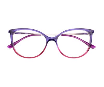 Okulary Kirstin Violet&Pink 3314 oprawka oraz najwyższej jakości soczewki STANDARD PLUS