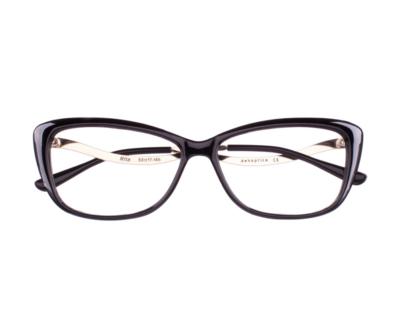 Okulary Rita Black 0012 oprawka oraz najwyższej jakości soczewki STANDARD PLUS