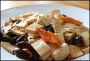 Tofu með kínverskum sveppum & grænmeti