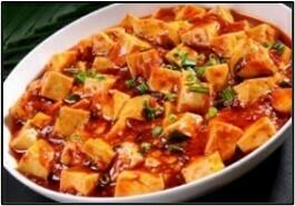 Tofu með lauk, bambus & Szechuan pipar