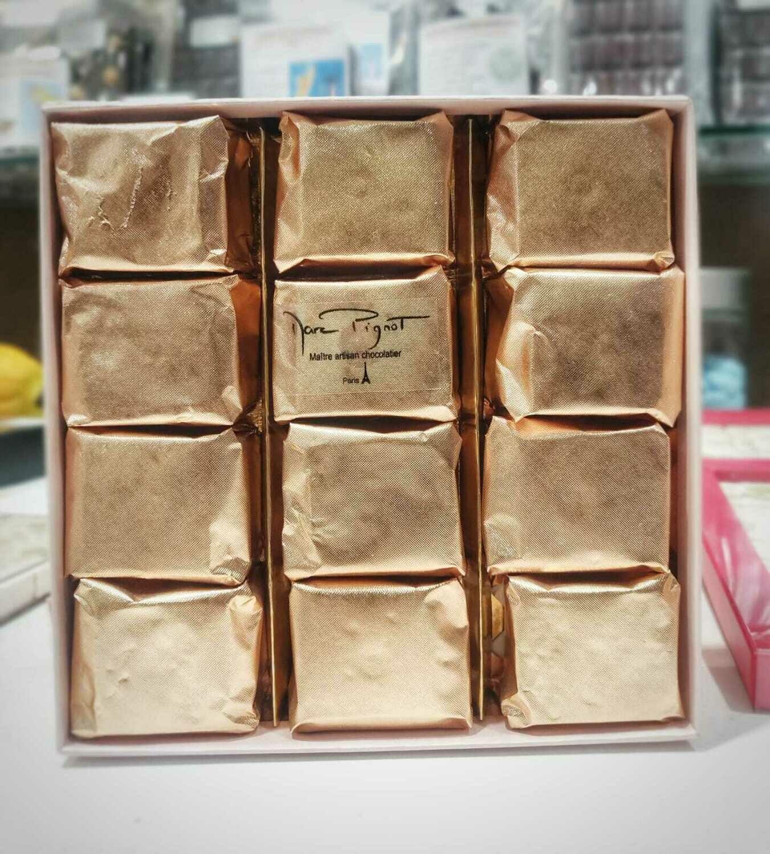 Marrons glacés en coffret 12 pièces