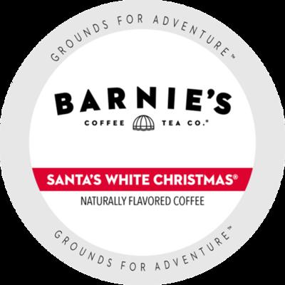 Barnie's Santas White Christmas