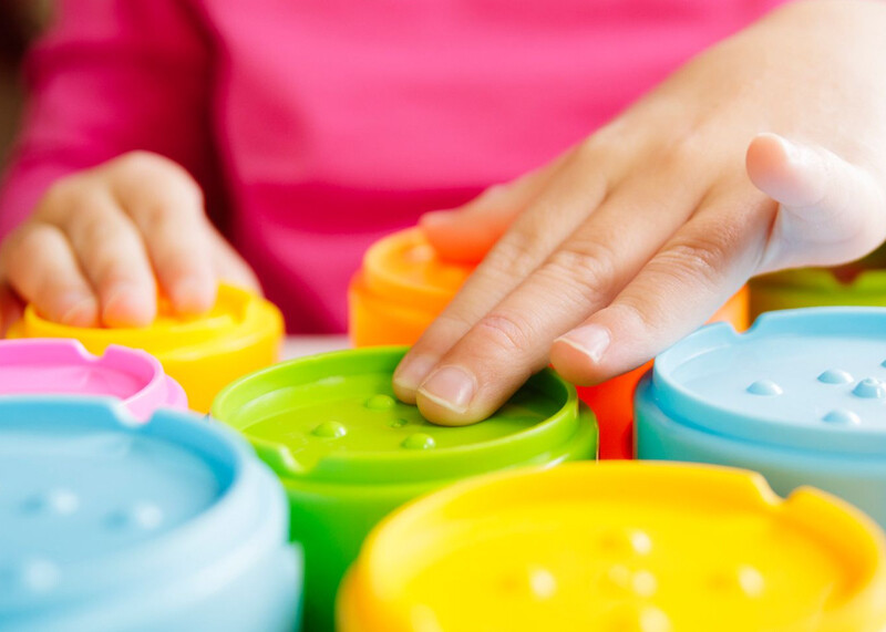 Sensory toys for a child with autism