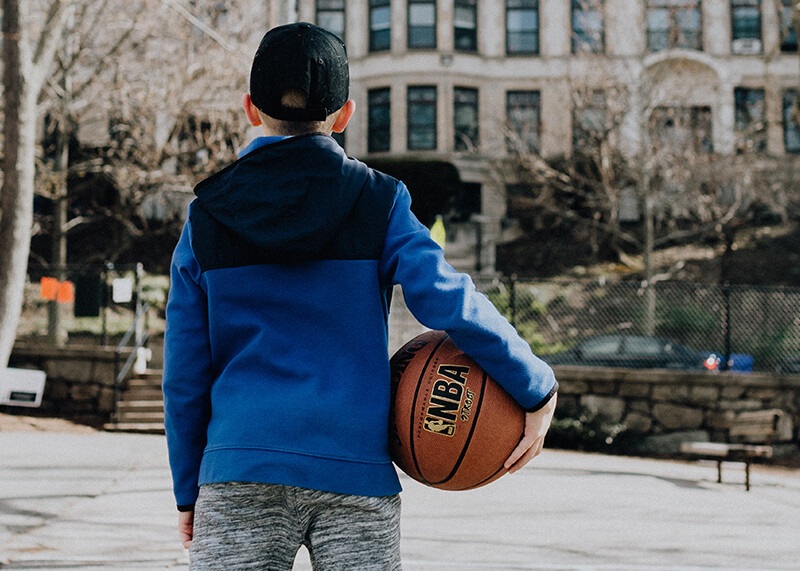 Sports equipment for a foster child