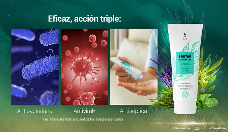 Herbal Gel Antibacteriano manos