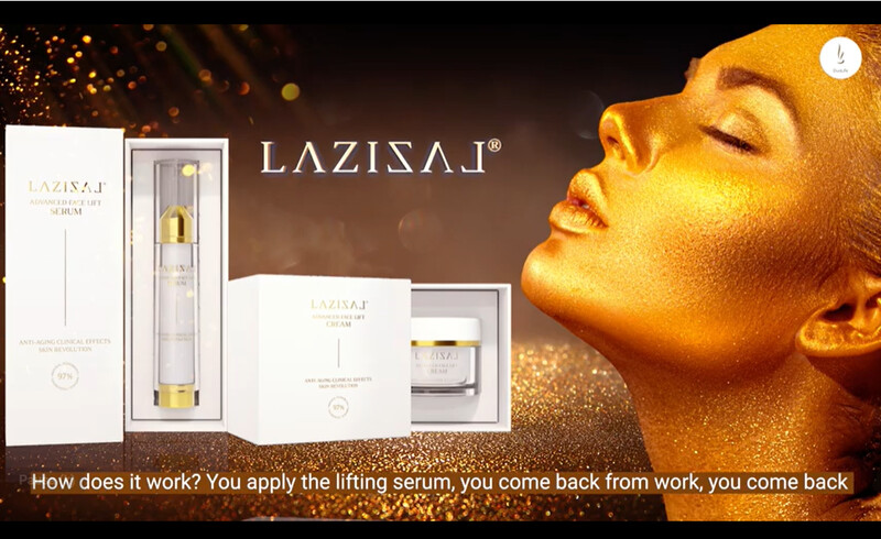 LAZIZAL® Advanced Face Lift Serum Tratamiento anti edad- Pack de 3 piezas-
