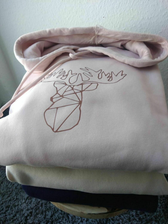 Stylischer Damen Hoodie mit Kapuze und Hirschmotiv