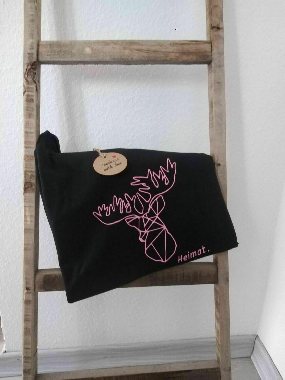 """Damen T-Shirt mit Rundhals und Hirschmotiv """"Heimat"""" filigran"""
