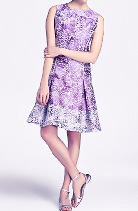 Yera women's short jacquard dress