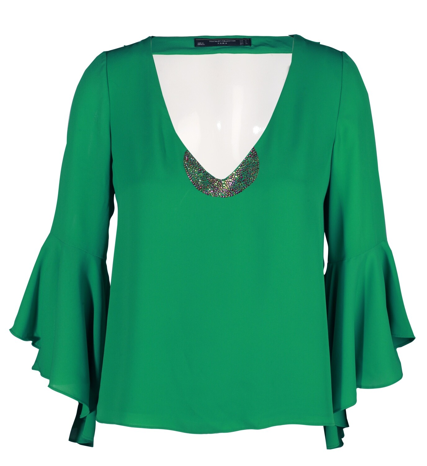 DYI emerald green shirt with crystal