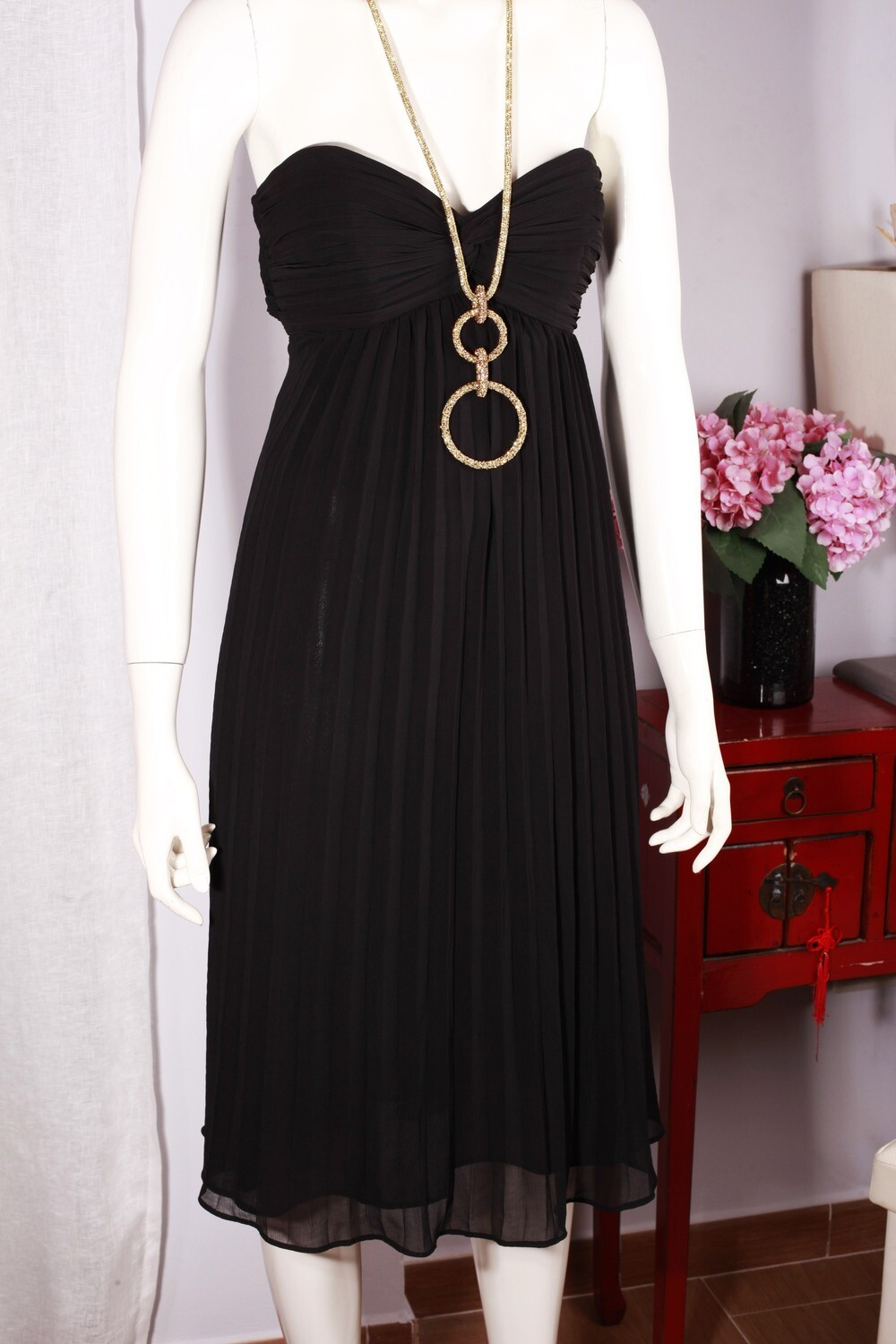 Black pleated dress by Coast