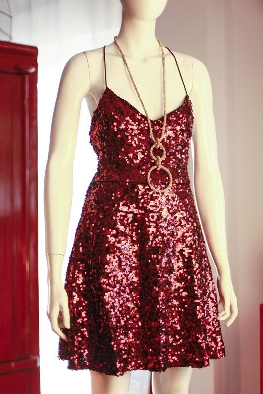 Sequin Dress bordeaux by Easy Wear