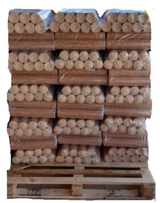 Pack 81 Briqueta para Calefacción marca Wood 810  Kg