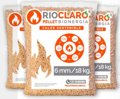 Pellet Rio Claro Pack 100 bolsas de 18 Kg, 1800 Kg