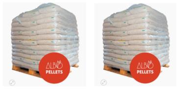 Pack 100 bolsas de 18 Kg. Pellets Albopellets 1800 Kg
