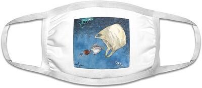Ocean Ecology face mask. White.