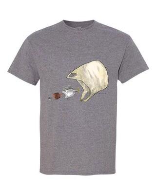 Ocean Ecology print – Men's short sleeve t-shirt – grey
