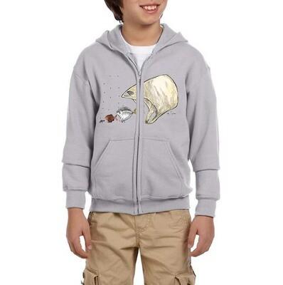 Ocean Ecology – Youth Hoodie. Grey.