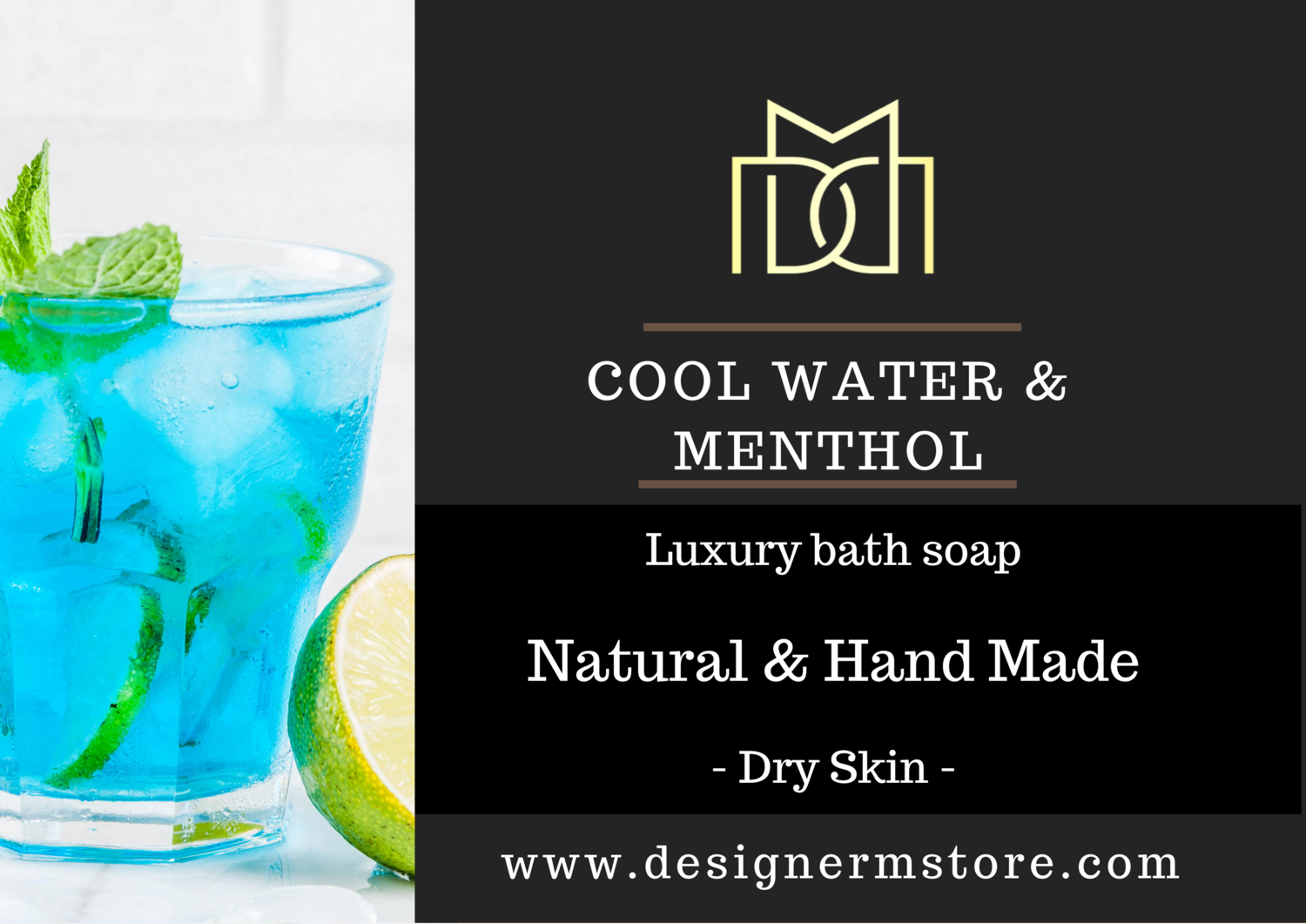 Cool Water & Menthol Organic Soap - Dry Skin