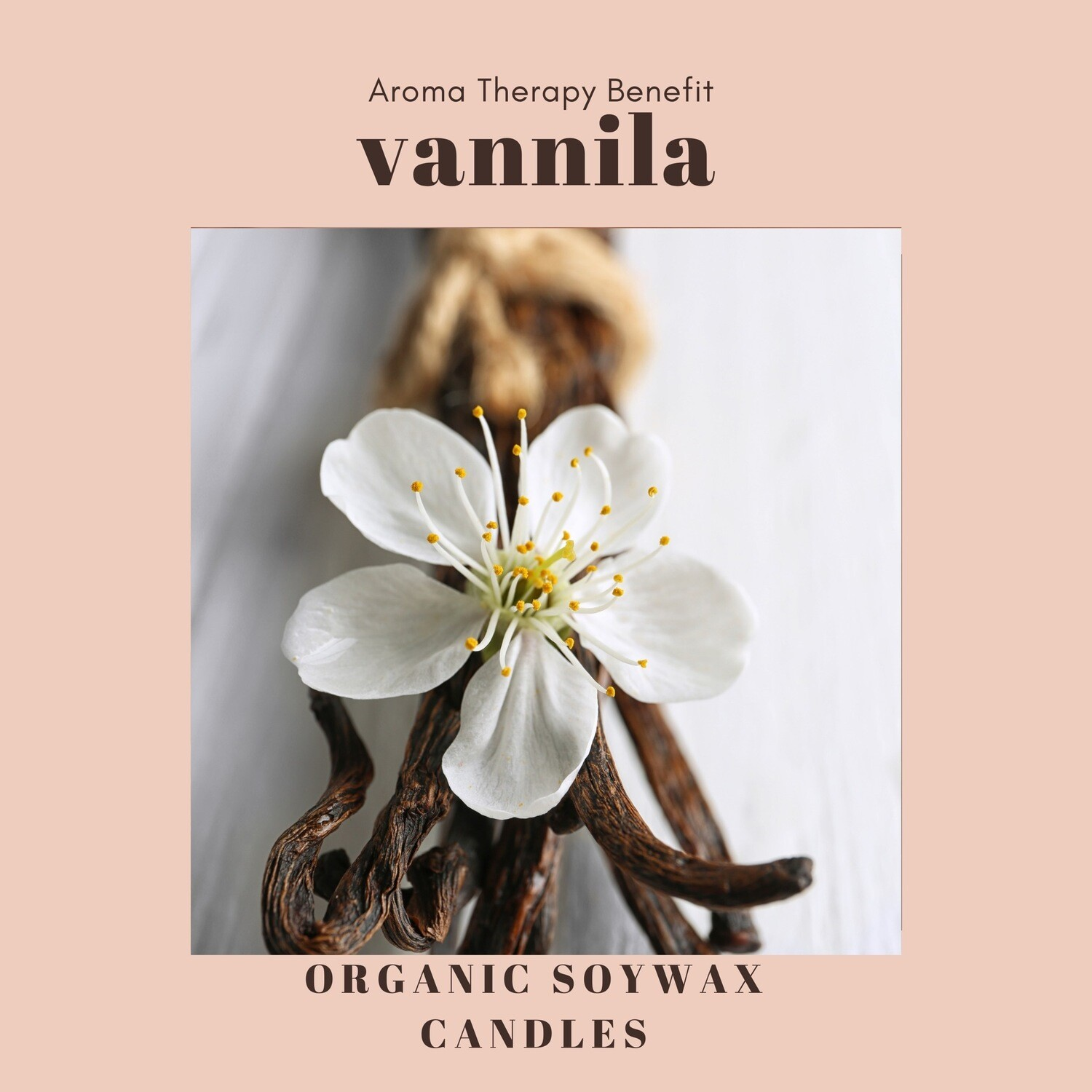 Vannila Scented Soy Wax Candle